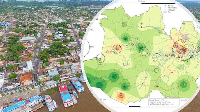 Hidrogeo analisa difusão da pandemia no Amazonas